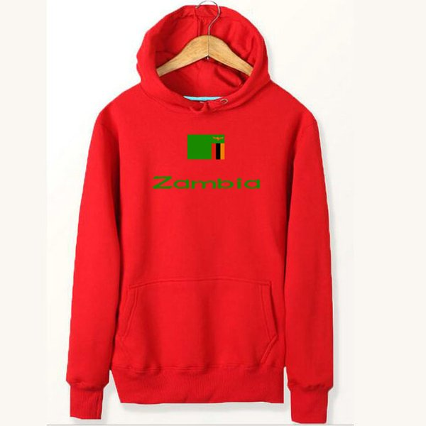 Zambia flag hoodies Nation player exercise sweat shirts Country fleece clothing Pullover sweatshirts Outdoor sport coat Brushed jackets