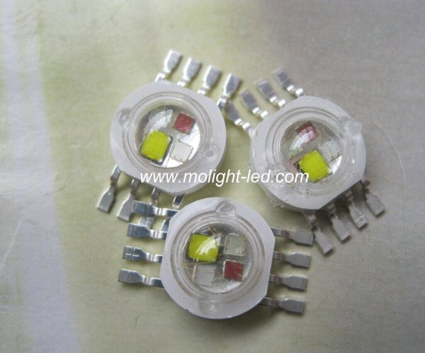 20PCS RGBW (RGB+W) 4*3W 12W LED Lamp Emitter Diodes For Stage Lighting High Power LED 45mil Epistar LED Chip