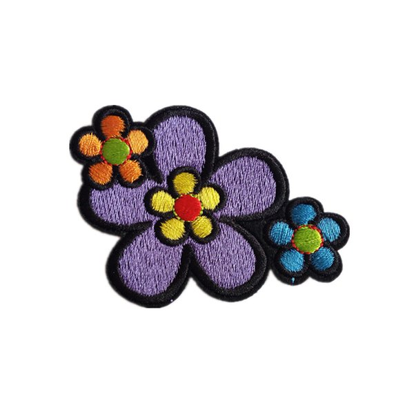 Embroidery patch Flower shape Iron patch cloth Back gum appliques skirt jeans jacket racksack sewing decorative accessories DL_CPIF004