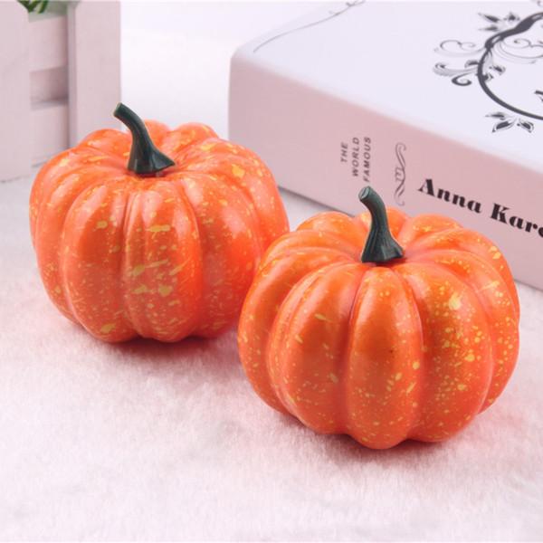 Free Shipping Lifelike Artificial Foam Orange Mini Halloween Pumpkin Wedding Party Festival Home Decoration Supplies WA1261
