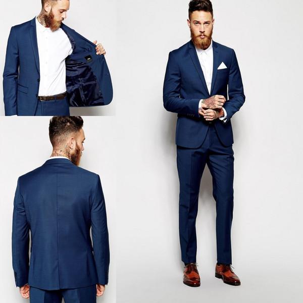 US $49.99  Vintage Blau Kariert Herrenanzug Hose Slim Fit Benutzerdefinierte Groomsmen Bräutigam Tuxedso Hose Herren Hochzeitsanzug hosen in Anzüge