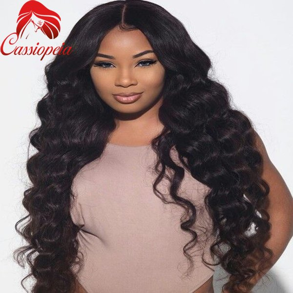 8A natural color body wave lace front wig human hair full lace wig brazilian glueless human hair wig for black women