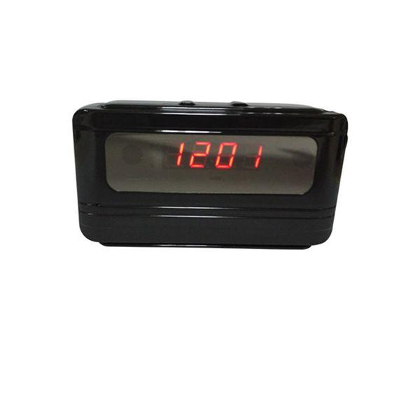 WIFI Mini Video Camera Clock 1080P Motion Detect Spy Hidden Alarm Clock Camera Camcorder 90° 30fps Video&Audio DVR recording WIFI V6 Black
