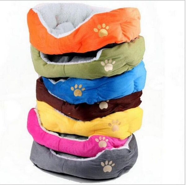 Hot Sale High Quality Warm Soft Pet Dogs House Dog Kennel Cushion Removable Dog Bed Sofa Mat Pet Product Sleeping Bag 7 Color