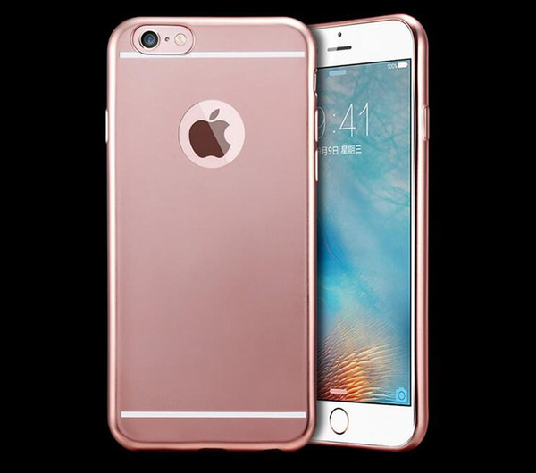 For iphone7 Matte Silicone Case For iPhone 7 6 6S Ultra-thin Soft TPU Back Cover gold rose gold