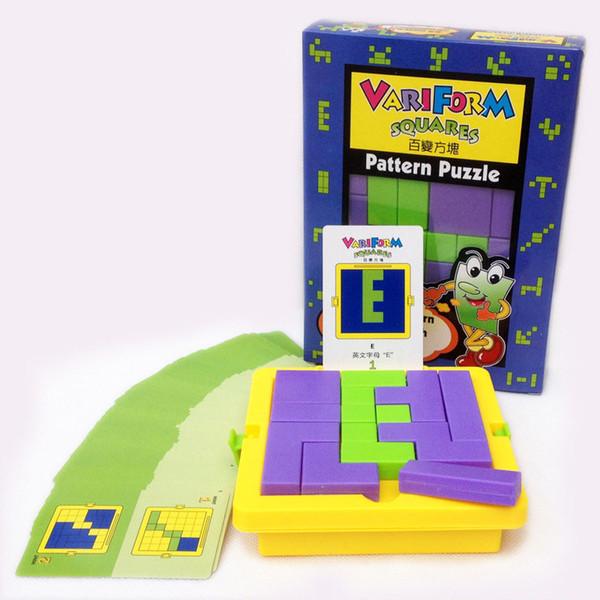 Kreatives erwachsenes Puzzlespiel-Puzzlespiele Klassisches Tangram IQ-Rätsel-Kind-Puzzlespiel-Würfel-Spiel-pädagogische Spielwaren
