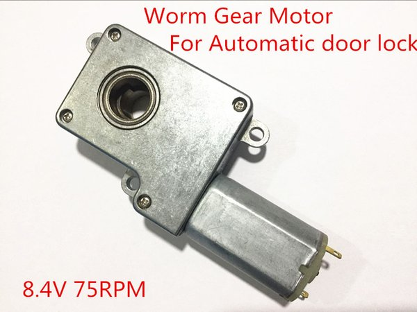 8.4V 75RPM Dc Worm Gear Motor For Automatic door lock