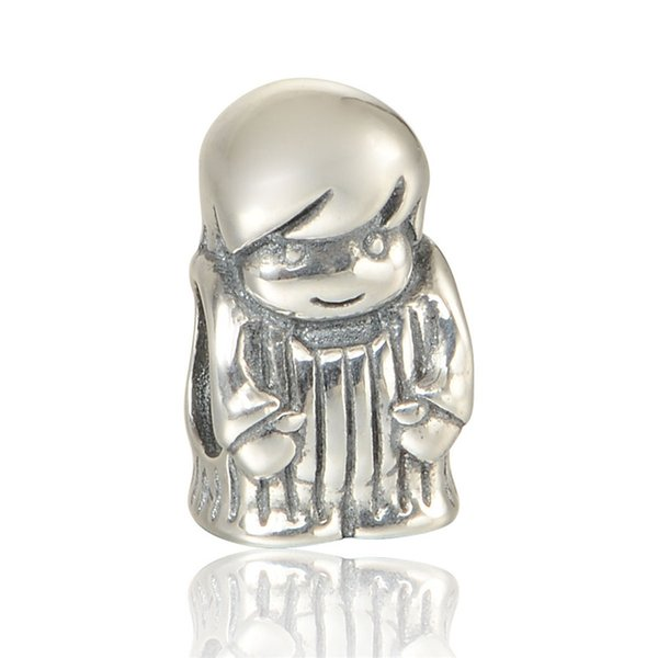 Boy Silver Charm 100% 925 Sterling Silver Beads Fit Pandora Charms Bracelet Authentic DIY Fashion Jewelry