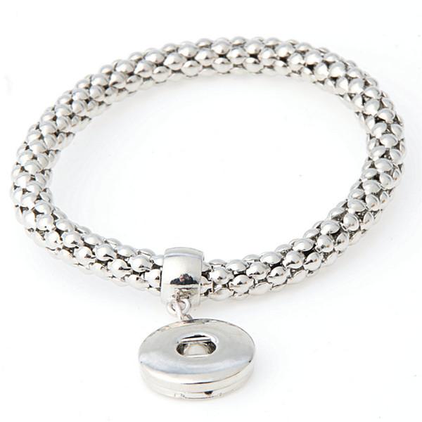 Bracelet Fasion Bijoux NOOSA Tendance Bijoux Argent Plaqué Interchangeable 18mm Bouton Ginger Snaps en Charme