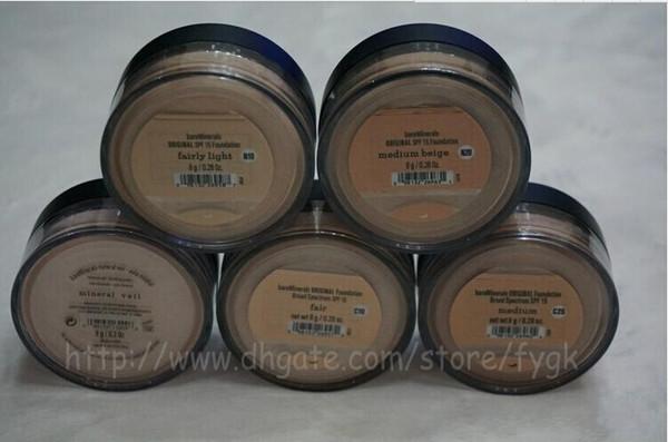 best selling HOT Minerals original Foundation Medium C10 C25  N10   N20 8g NEW Click Lock Highest quality Free DHL