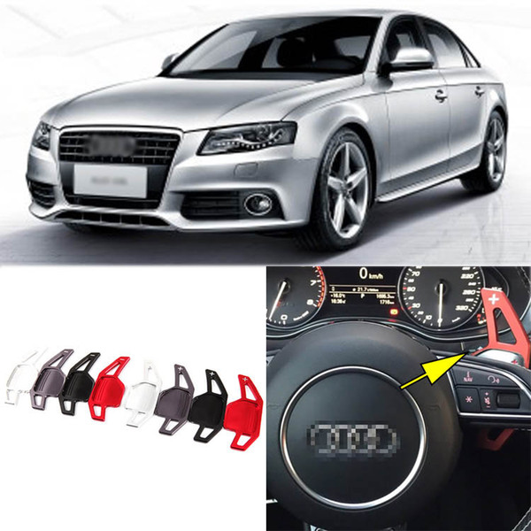 2pcs Brand New High Quality Alloy Add-On Steering Wheel DSG Paddle Shifters Extension For Audi A4L