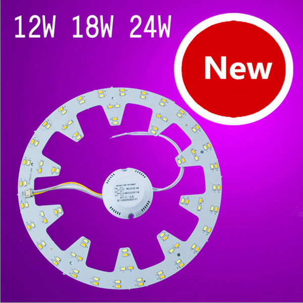 best selling New LED Circle PANEL Light round circular Ceiling lamp SMD 5730 LED board 10Watt 12W 15W 18W 21w 24w + AC85-265V CE UL driver+Magnetic