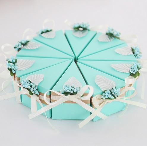 European Style Wedding Supplies Favor Holders Chocolate Box Candy Box 7 Colors Pure Hand-made Beautiful and Fashion Design