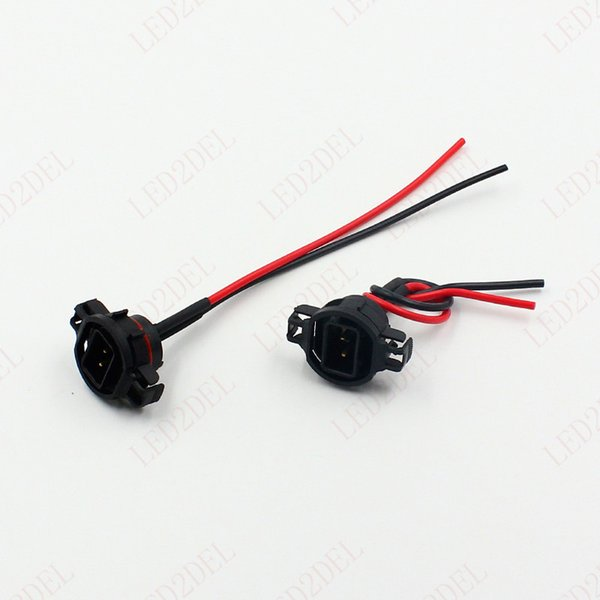 Wire Pigtail Male H16 5202 5201 2504 9009 PSX24W Harness Socket Plug Connector Replacement Car Auto HID LED Light Bulb
