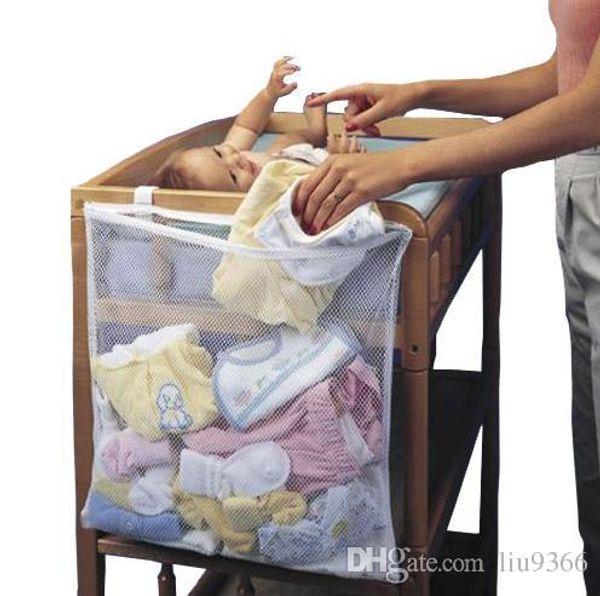Baby Bedding Set Big Crib Storage Bag Pocket Change Clothes Baby Cot ...