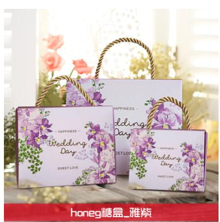 2016 Colorful Personality Favor Boxes Wedding Candy Boxes Papery 100 Pecs/Lot Square Special Wedding Party Favors For Wedding Gifts Boxes