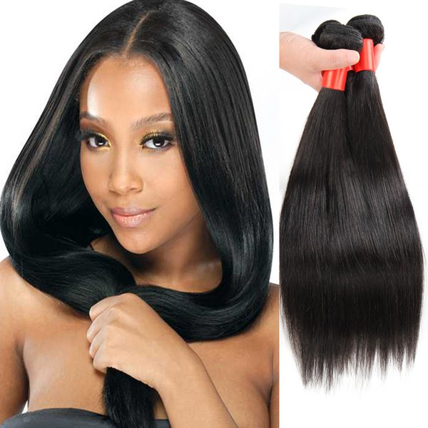 Peruvian straight hair extension wholesale price fast shipment Brazilain Indian Malaysian hair no shedding 3/4 pcs natural straight hair