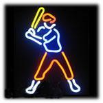 "Hot Baseball Player Neon Sign Light Sport Game Real Glass Tube Lamp Advertisement Display Neon Signs Light 13""X17"""