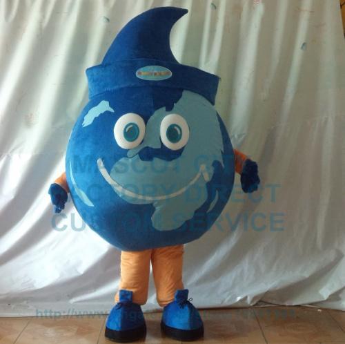 School Anime Cosply Dress The Blue Earth Globe Mascot Costume Adult Lovely Earth Theme Cartoon Mascotte Fancy Dress Kits 1784