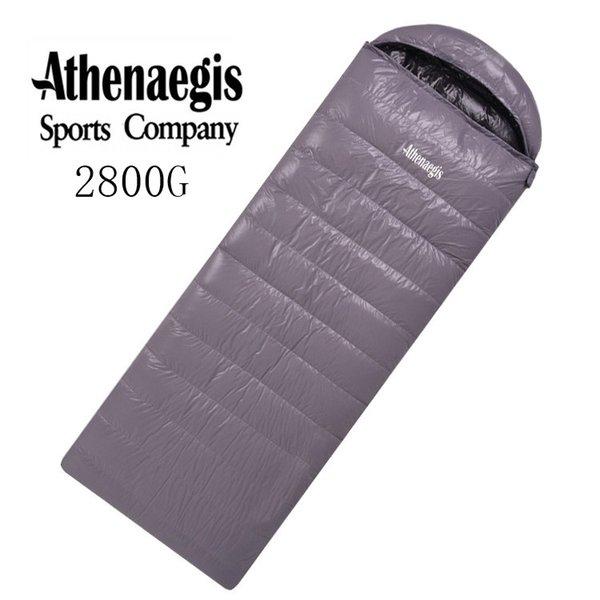 Athenaegis new arrival white goose down 2800g filling spliced envelope adult waterproof sleeping bag