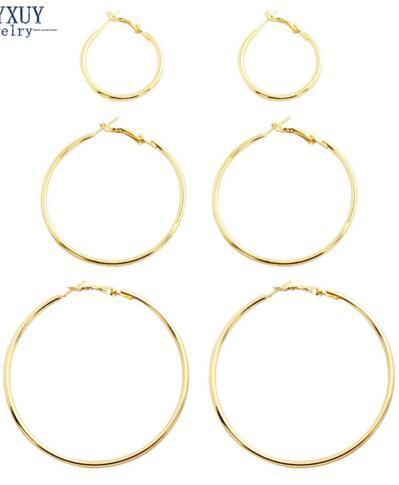 Ücretsiz Kargo Yeni moda takı büyük hoop küpeler set 1 grup = 3 pairs hediye için kadın kız E3314 toptancılar