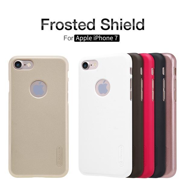 vendita all'ingrosso Custodia opaca per Apple iPhone 7 NILLKIN Scudo super smerigliato per Apple iPhone 7 con film gratuito