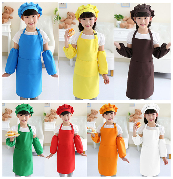 Kids Aprons Pocket Craft Cooking Baking Art Painting Kids Kitchen Dining  Bib Children Aprons Kids Aprons A 0380 Personalised Apron Disposable Aprons  ...