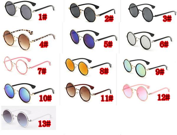 10pcs summer woman Retro sunglasses metal color film sun glasses ladies fashion Dazzle colour sunglasses driving glasses 13colors drop ship