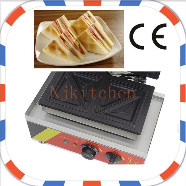 Free Shipping Commercial use 110v 220v Electric Sandwich Grill Toaster Press Maker Machine Baker Iron Mould equipment