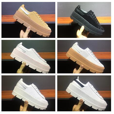 sale retailer e5c4c d0337 2017 Hot Fenty Rihanna Cleated Creeper Suede Women Shoes Cheap Sale Top  Quality Rihanna Fashion Casual Shoes Size35 40 Shoe Sale Running Spikes  From ...