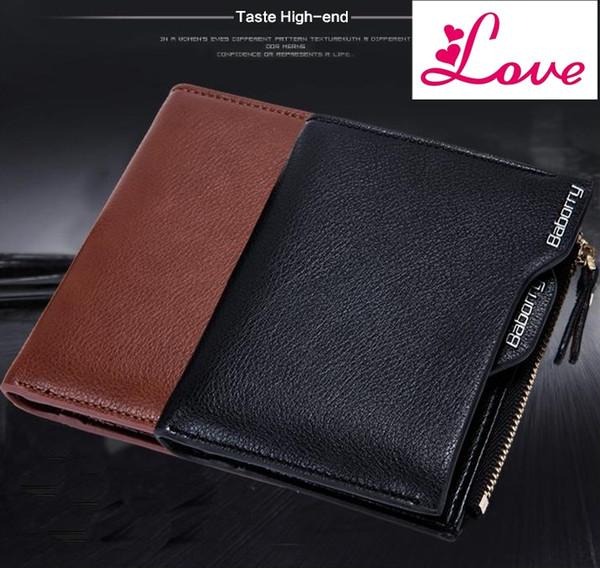 Lucia diebstahl schützen münztüte reißverschluss männer brieftaschen berühmte marke herren geldbörse männlichen geldbörsen brieftaschen neue design top männer brieftasche