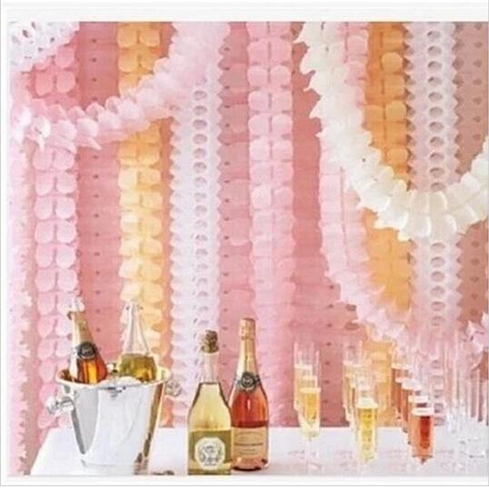 3.6m Beautiful Four Leaves Clover Hanging Paper Garland Tissue Wedding Decoration Home DIY Party Festival Home Decoration