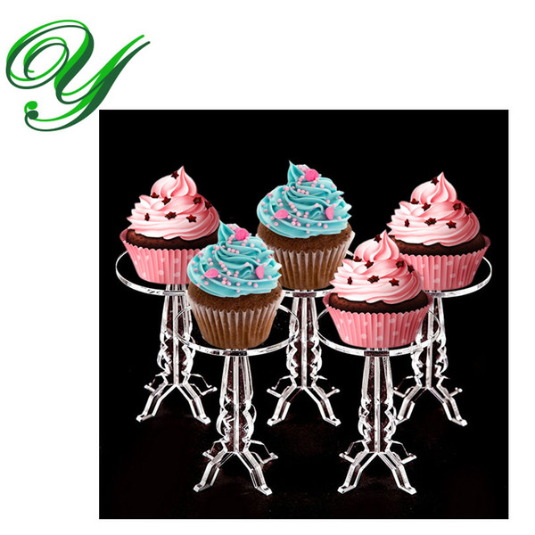 Cupcake Pedestal Holder Stand cookies fruit acrylic display tower buffet serving tray wedding party decorations kids birthday event supplies