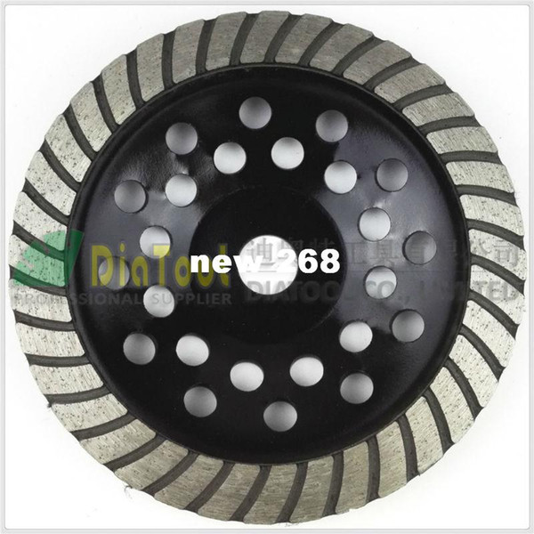 """top popular 7"""" 180mm Diamond Spiral Turbo Grinding Cup Wheel, bore 16mm for concrete, brick grinding 2021"""