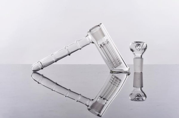 Joint 18.8mm Glass Bongs 14cm Height Glass Bubbler Water Bong Hammer 6 Arm Per Glass Percolator Bubbler Smoking Pipe Bongs Free Shipping