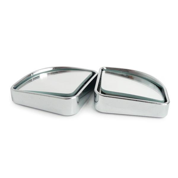 Wholesale-Top quality Push Rearview View Convex Mirror Wide Angle Sector Adjustable Auto Car Blind Spot Mirror styling (Silver/1pair)