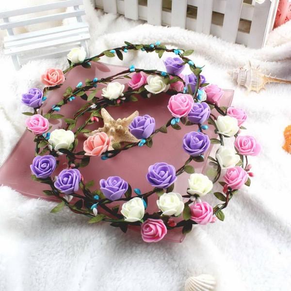 Wedding Decoration Flower Hair Accessories for Women Flower Garlands for Wedding Head Wreath Flower Decorative Flowers Wreaths