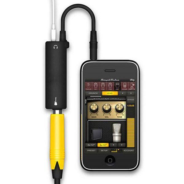 Rig Guitar Link Аудиоинтерфейсная система Усилитель AMP Педаль эффектов Педаль конвертера Адаптер Кабель Разъем для iPhone iPad iPod