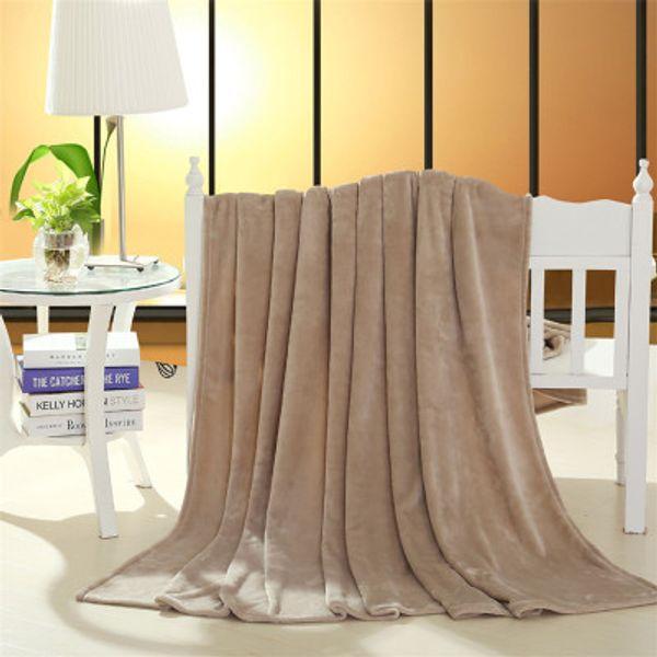 Solstice Home Textiles Solid Color Polyester Flannel Fleece Blanket On The Bed Home Adult Blanket Sofa Portable Blanket