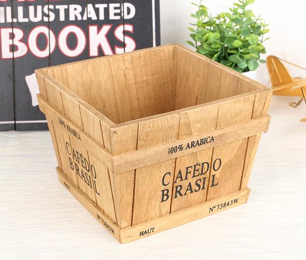 купить оптом творческая личность деревянные цветочные горшки завод бонсай лоток прямоугольный деревянный ящик крытый зеленый посажены деревянный ящик
