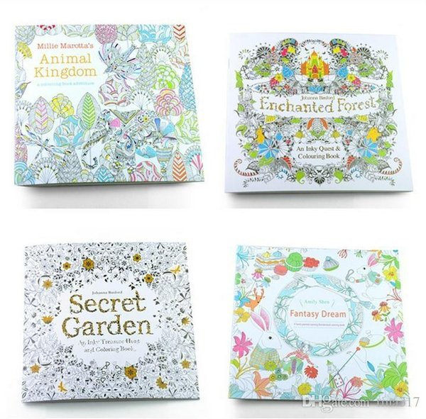 Secret Garden Adult English Decompression Hand Painted Color In Coloring Book Enchanted Forest Children Painting
