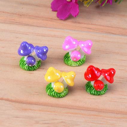 4colors mushroom fairy garden miniatures gnomes moss terrarium artificial home decoration for home decor DIY Zakka