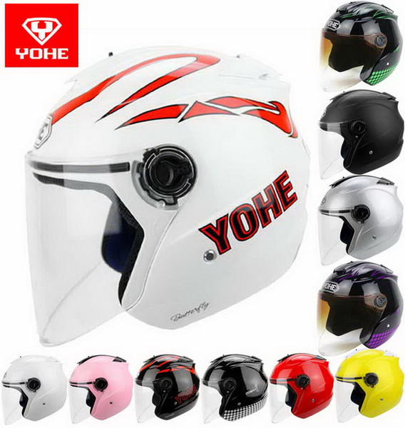 2016 summer Newest YOHE half face motorcycle helmet YH-882B electric bicycle motorbike helmets made of ABS UV sunscreen FREE SIZE 12 colors