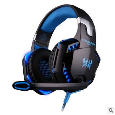 Üst saleKOTION HER G2000 Aşırı kulak Oyun Oyun Kulaklık Kulaklık Kulaklık Kafa Mic ile PC için Stereo Bas LED Işık oyun
