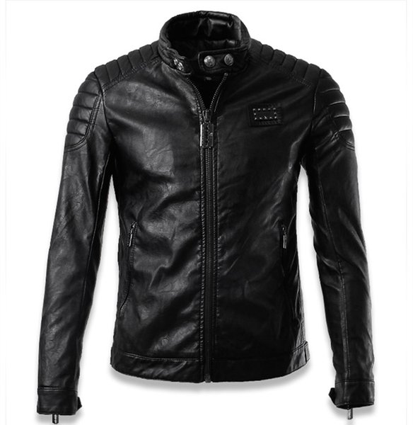 top popular Fall-Chaquetas De Cuero Hombre 2016 Luxury Skull mens pilot leather jackets jaqueta de couro men biker jacket brand clothing man XXXL 2019