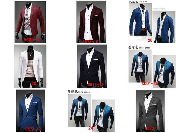 wholesale 2016 Spring and Autumn new men cultivating a buckle collar design casual suit coat jacket multicolor