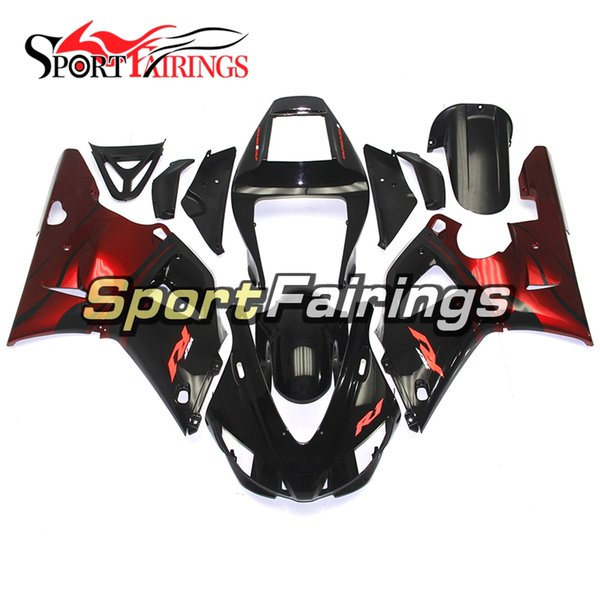 ABS Complete Fairings For Yamaha YZF 1000 R1 98 99 YZF-R1 1998 1999 Motorcycle Fairing Kit Bodywork Cowlings Red Black Flame Covers