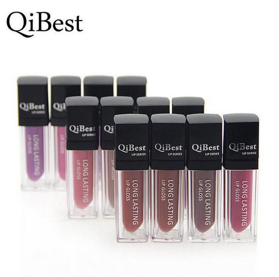 Lèvres mates Maquillage QiBest Rouges à lèvres liquides imperméables Brillant à lèvres Brillants à lèvres de longue durée Lèvres Bâtons Cosmétiques 12 Couleurs Bateau DHL