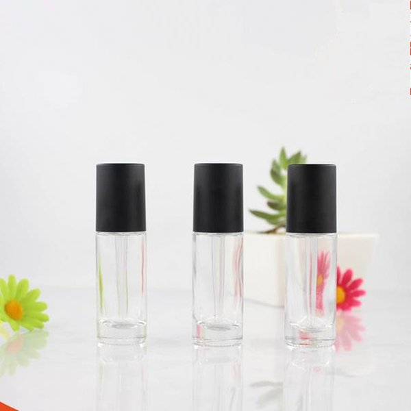 12 ML Botella de aceite de vidrio con bomba de prensa Pipeta de vidrio Botellas gotero de vidrio Botella de perfume envío rápido F20171822