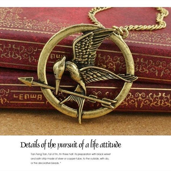 Hungry Game Necklace Inspired by Mockingjay and Arrow Pendant Necklace, Supports Imitation Jewelery Katniss Movie Hunger Game